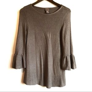 CHICOS EASYWEAR Soft Bell Sleeve Shirt Top